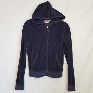 juicy couture women's Large navy  zip up hoodie